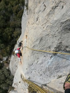 Multi-pitch route at Perles